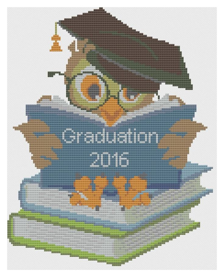 Graduation Owl Cross Stitch Kit by Florashell #Florashell