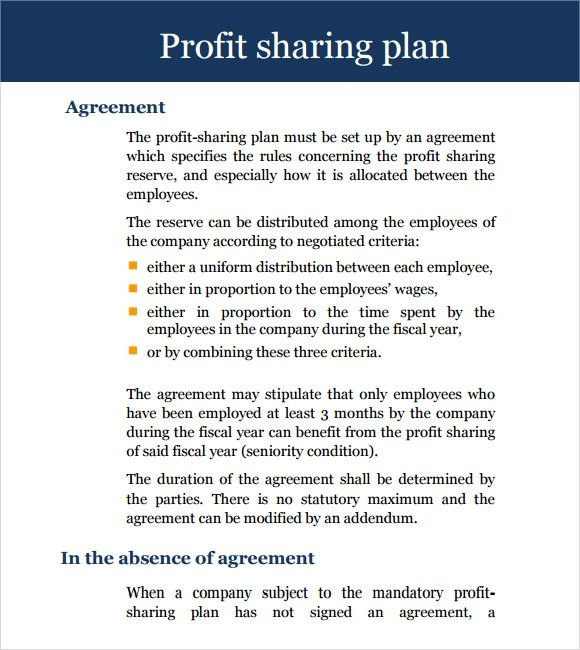 Profit Sharing Letter To Employees New Sample Profit Sharing