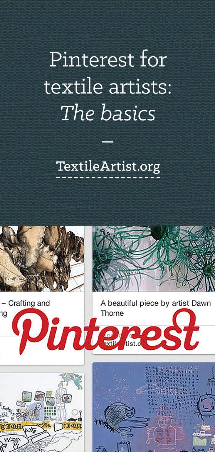 Pinterest for textile artists: the basics
