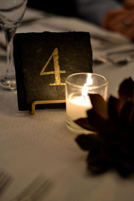 Numéros de Table de mariage ardoises 12 par ScatteredTreasures, $4.00