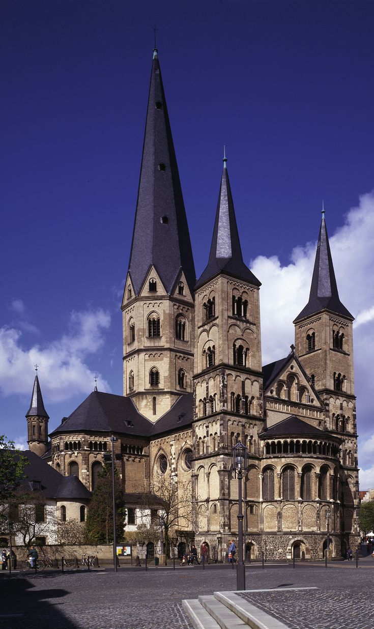 The Bonn Minster (Bonner Münster) is one of Germany's oldest churches, built between the 11th and 13th centuries.