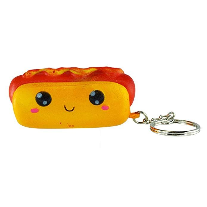 Squish N Squeez Ems Slow Rising Stress Relief Squishy Toy Keychain