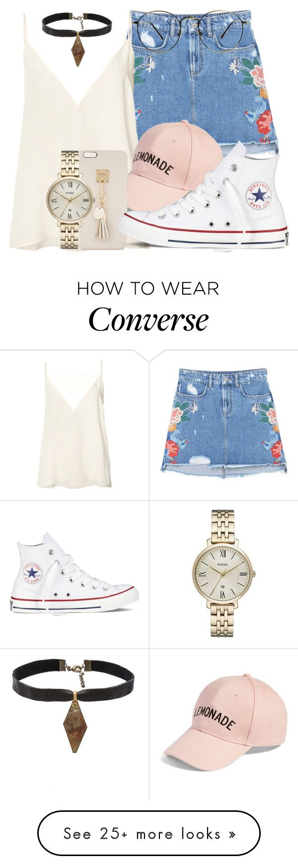 """""""67.7"""" by mallorimae on Polyvore featuring MANGO, Anine Bing, Amici Accessories, Iphoria, Converse, FOSSIL and Child Of Wild"""