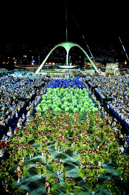 Carnaval at Marquês de Sapucaí, Rio de Janeiro, Brazil