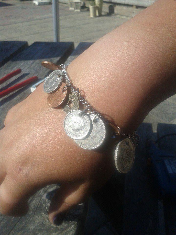 armband van oude centen