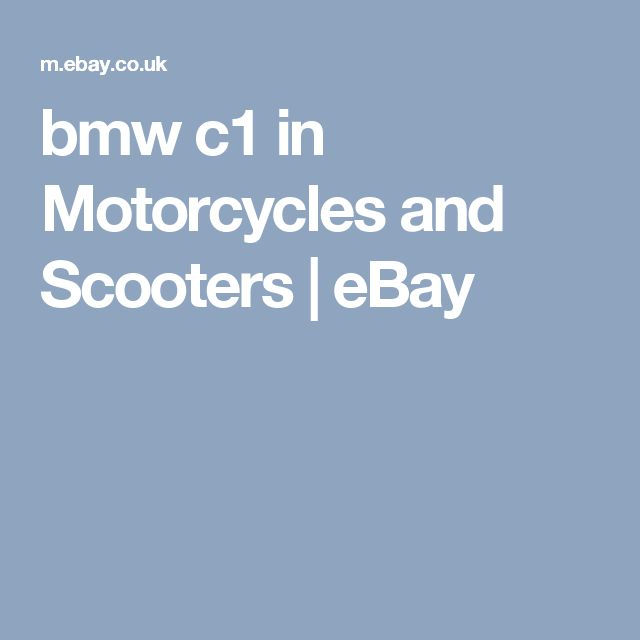 bmw c1 in Motorcycles and Scooters   eBay