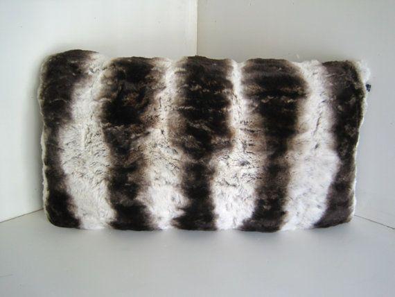 Chinchilla Brown Faux Fur Decorative 12x24 by WilhelminaJacobsLA, $54.99