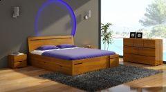 Łóżko sosnowe Visby Salerno High Drawers (z szufladami)
