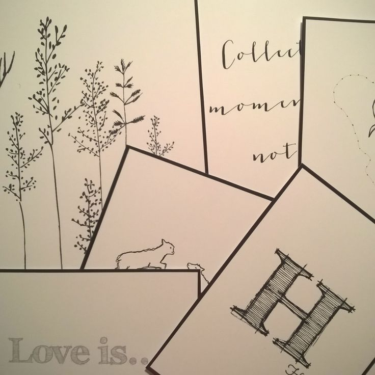 Set of sketches for the HOME ❤