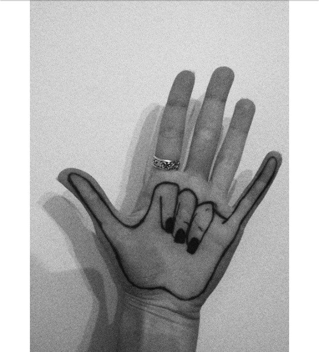 Cool hand drawing