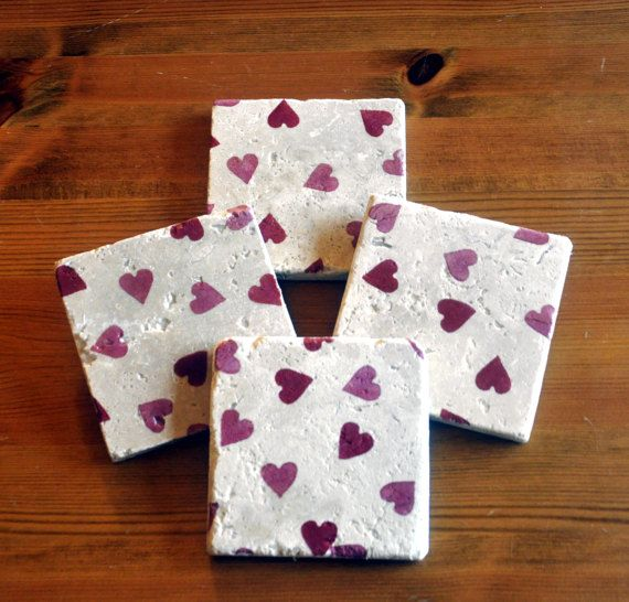 Emma Bridgewater Styled Heart Natural Stone by DevonMadeDesigns