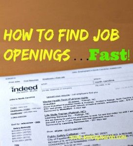 How to Find Job Openings Fast #joblistings #jobs -Earning and Saving with Sarah Fuller