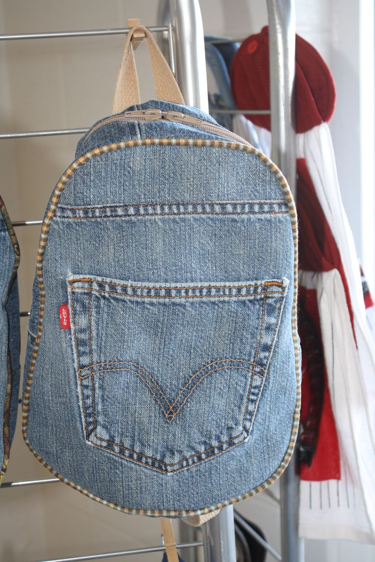 Upcycled Denim Backpack