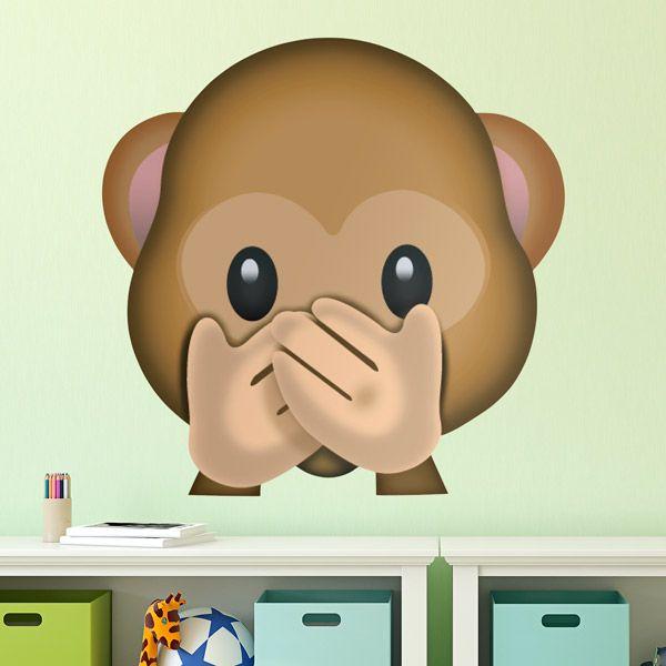 Adesivi Murali: scimmiette non parlano #vinili #emoji #emoticon #decorazione #muro #parete #faccias #StickersMurali