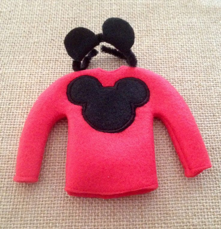 """Elf Mouse Sweater and Mouse Ears for your favorite Elf or 12"""" Doll by LoveOnANeedle on Etsy"""