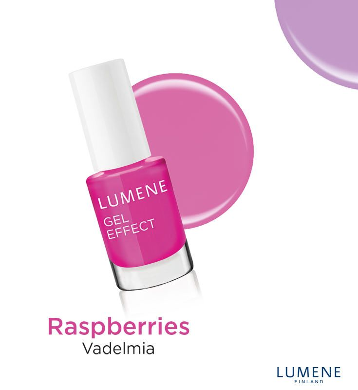 New Lumene Gel Effect Nail Polish shade 17 Raspberries #Lumene #nailpolish