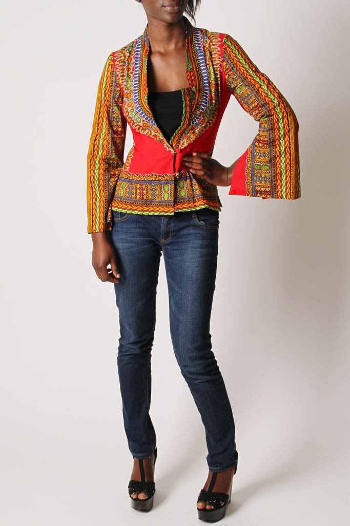 African Dashiki print top by KikoRomeo, available from Sapelle.com for £60