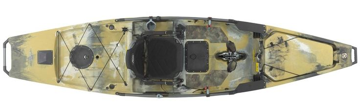 2017 Hobie Pro Angler 14 in Camo color, with 180 Mirage Drive.