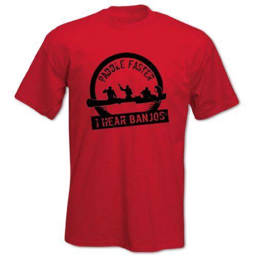 Fathers' Day PADDLE FASTER I HEAR BANJOS Mens T Shirt Fun Gift Idea S Red BANG TIDY CLOTHING http://www.amazon.co.uk/dp/B00CYI24Q4/ref=cm_sw_r_pi_dp_gmrovb16VMHVW