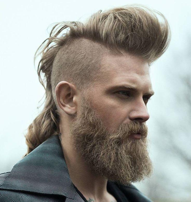 Long Hair Ideas For Men Mohawk Frisur Haarschnitt Viking Frisur