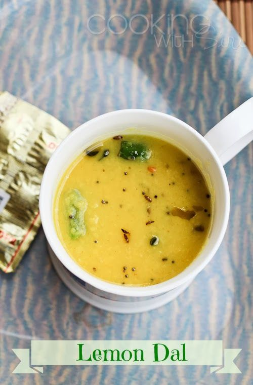 Quick Lemon Dal Recipe ~ perfect for these grey winter days. Get the #recipe here ==> http://www.cookingwithsiri.com/2014/01/quick-lemon-dal-recipe-nimmakaya-pappu.html