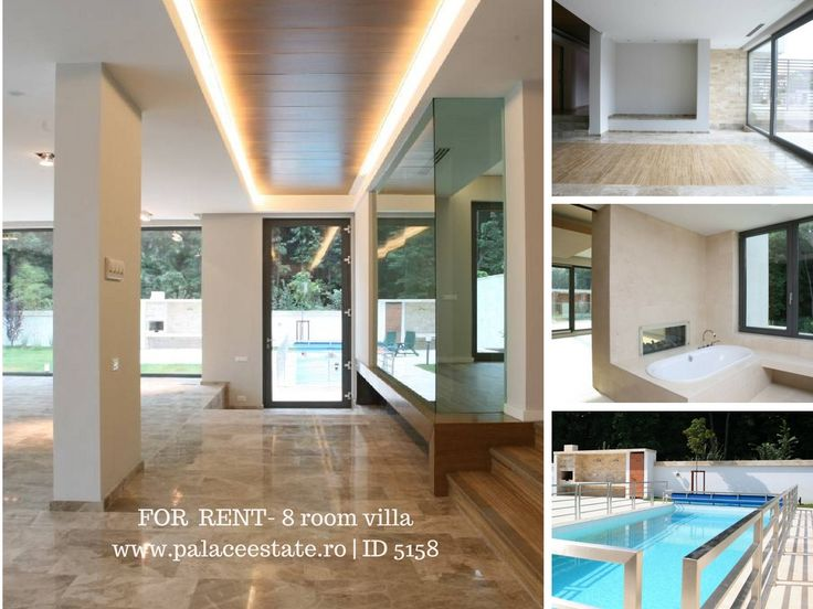 We present you for rent a modern property built in an exclusivist compound located in Pipera area. With a view towards the forest, a very good space division and a great surface, the property answers all of your demands. The house was built on four levels: underground, ground, floor and attic. www.palaceestate.ro | ID 5158