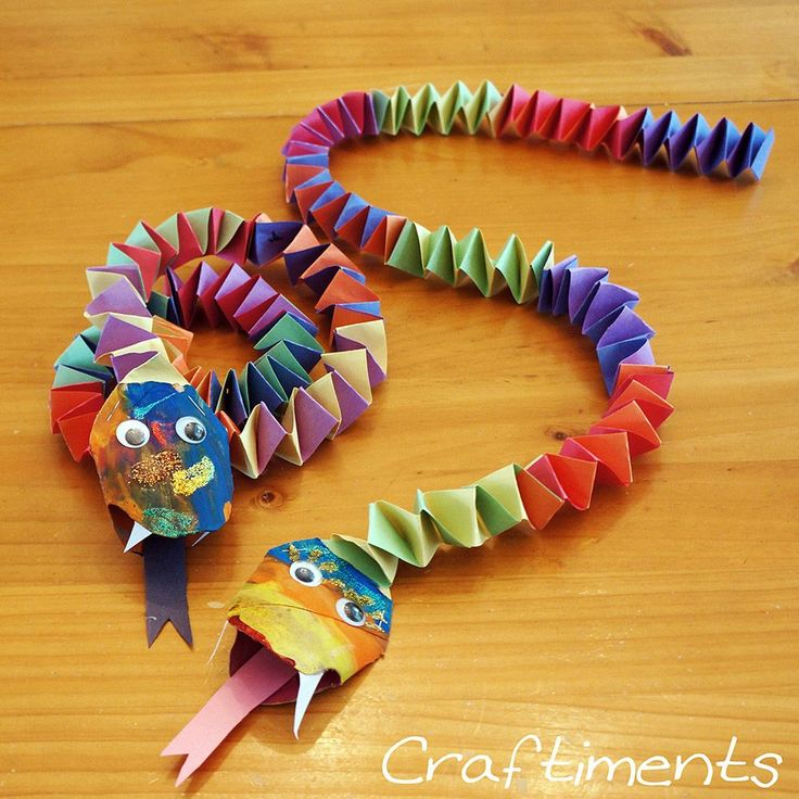 Make It: Paper Snakes - Tutorial #kidscrafts #kids #papercrafts