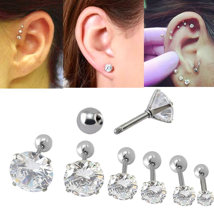 3mm 4mm 5mm 6mm 8mm 9mm Four Prong Set Clear CZ16G Tragus Ear Stud Earrings For Women Fashion Ear Piercing Stud Earring-in Stud Earrings from Jewelry & Accessories on Aliexpress.com   Alibaba Group