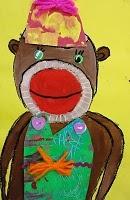 Oh man, Sock monkey art lesson. WIN!