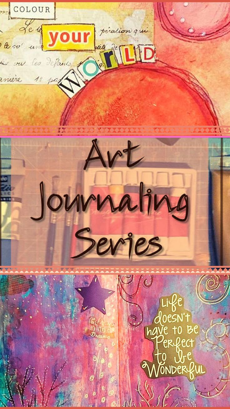 Art Journaling Series: Tutorials and Tips for art journals, journaling and for getting started with watercolour colour, stamp techniques, acrylic paint and collage.