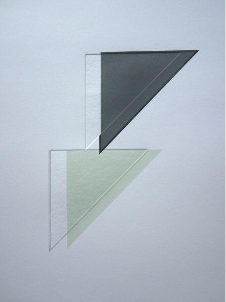 KRISTY GORMAN VERSO X 2014  ink on embossed paper 520 × 380mm
