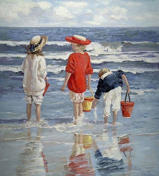'High Tide' Painting by Sally Swatland