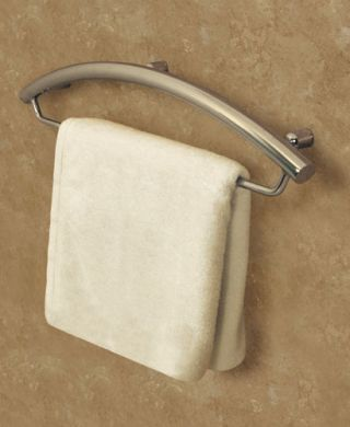 Towel Bar W/Grab Bar what a great idea #grabrail #seniorsliving