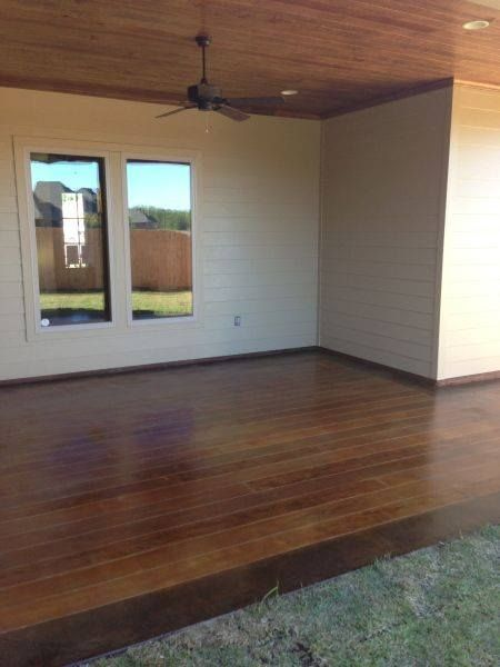 """Concrete """"Deck"""" stamped to look like wood"""