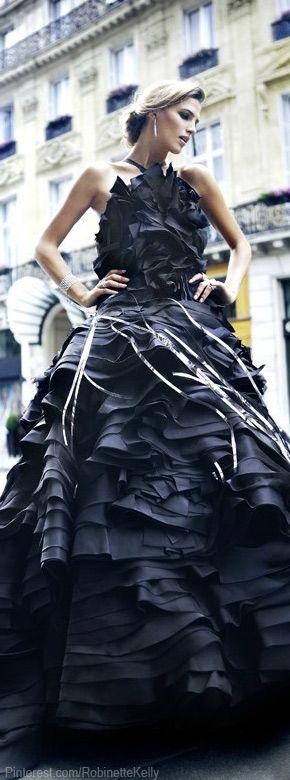 Christian Dior Haute Couture | F/W 2011-12 Black Dress #2dayslook #sasssjane #BlackDress www.2dayslook.com