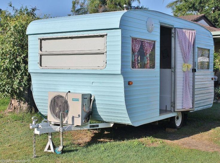 Vintage Retro Millard Caravan Market Site Van Kidston Chic