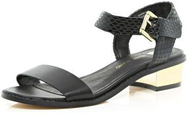 River Island Black block heel sandals on shopstyle.co.uk
