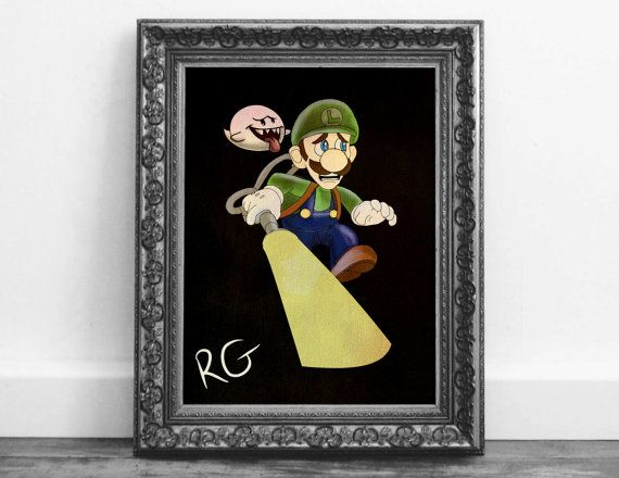 Check out this item in my Etsy shop https://www.etsy.com/ca/listing/485624021/luigis-haunted-mansion-nintendo-fan-art