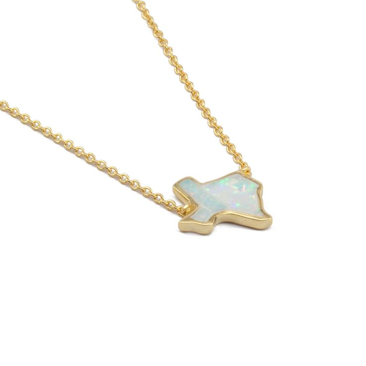 Represent the Lone Star state by adding this beautiful Texas opal necklace to your jewelry collection. This opal pendant is placed on a 14 karat gold filled ...