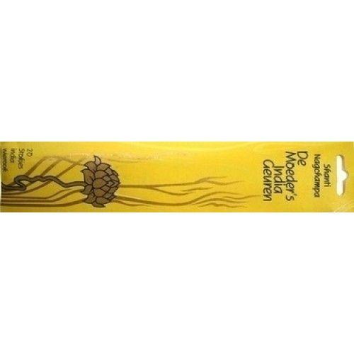 Shanti Nagchampa 20 lange stokjes wierook Shanti Nagchampa – Vrede (mantra: Om Shanti, Shanti, Shanti) Shanti Nagchampa is gebaseerd op de rijke, zoete en traditionele tempel wierook van India. De hoofdrol wordt gespeeld door het wonderlijke aroma van de delicate, zoet geurende boeket van de gouden Champa bloem, die ook bekend staat als de paradijsbloem. Met een basis van sandelhoutpoeder en vermengd met prachtige rozen en jasmijn geuren, schept het een sfeer die geschikt is voor meditatie…