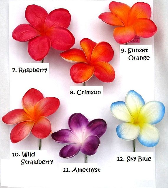 Real Touch Plumerias/Frangipani von BloomBridalCreations auf Etsy Colour ideas for tattoo