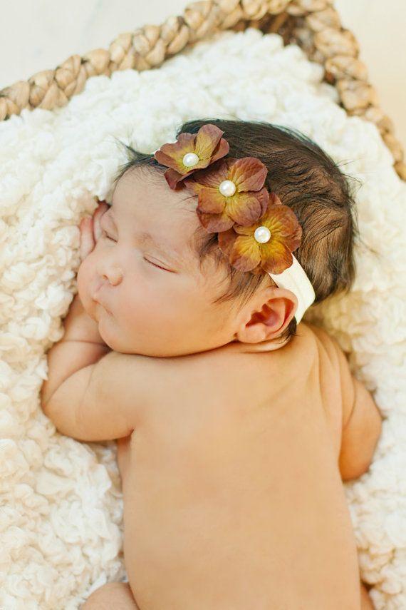 Baby headband fall thanksgiving headband infant by aubreygianna