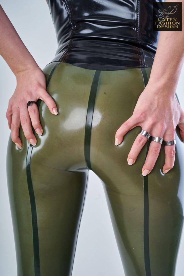 Miss Lupa   Latex Fashion Design   green latex