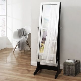 Shimmer Cheval Full-Length Mirror Jewelry Armoire - Free Shipping Today - Overstock.com - 21061865 - Mobile