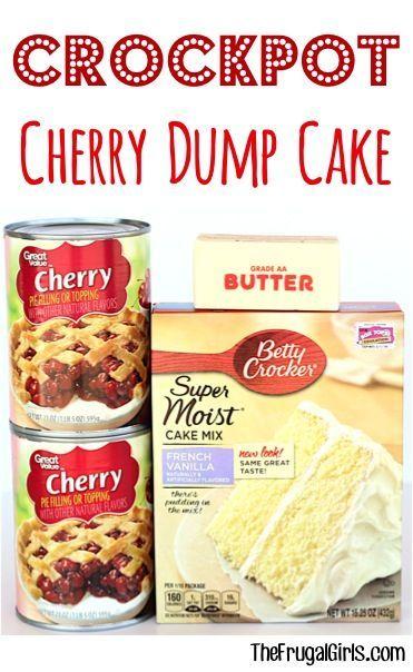 Crockpot Cherry Dump Cake Rezept! {3 Zutaten} – Die sparsamen Mädchen