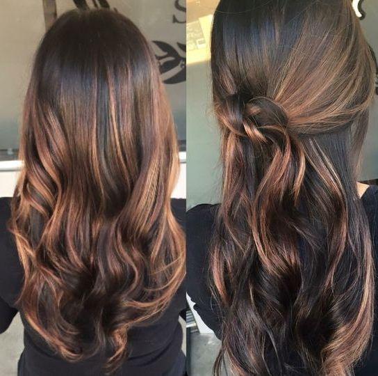 17 best ideas about caramel balayage highlights on pinterest brunette highlights summer - Ombre hair marron caramel ...