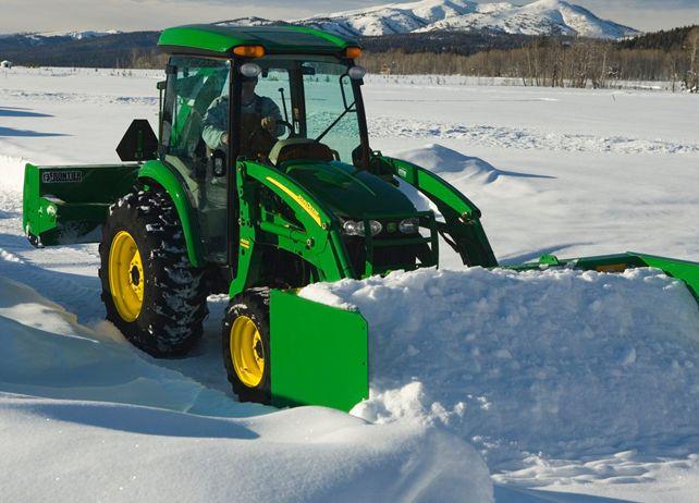 john deere loader snow pusher   John Deere AS11E Series Snow Pushes Snow Removal Equipment JohnDeere ...