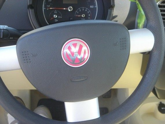 VW Emblem Vinyl Color Inserts for New Beetle Steering by tonyabug, $12.00