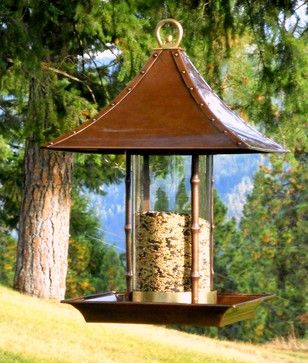 Bamboo Bird Feeder - asian - bird feeders - other metro - hpotter.com