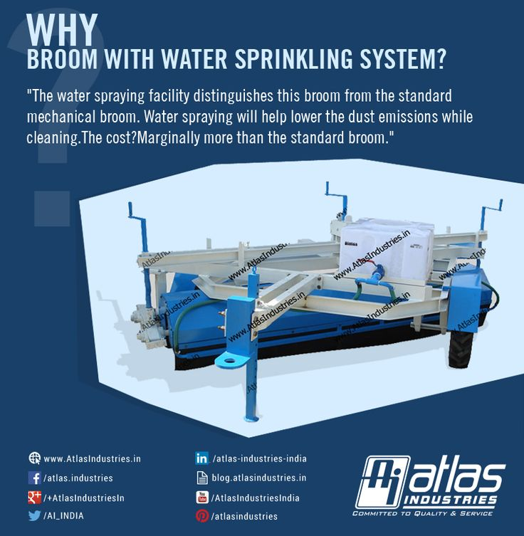 Atlas is always committed to help customers make informed decisions before their purchase. It can be confusing to choose between standard mechanical broom and mechanical broom with water sprinkling system.  More details on broom with water sprinkling system: http://goo.gl/aNNPI  #MechanicalBroom  #RoadSweepingEquipment  #RoadCleaningEquipment  #TractorMountedBrooms